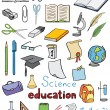 Science and education color icons vector collection — Stock Vector #13155235