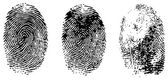 Different black fingerprints, vector — Stock Vector