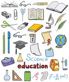 Science and education color icons vector collection — Stock Vector