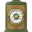 Royalty-Free Stock Photo: Old antique clock brown and green color isolated on white