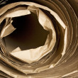 Stock Photo: Brown paper kraft roll