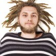Stock Photo: Young dreadlock mlie isolated