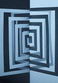 Streszczenie tło wyłącznik niebieski papier kwadratowy kształt — Zdjęcie stockowe