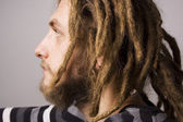 Portrait of a man with dreadlocks — Stock Photo