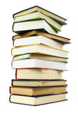 Big stack of books in hard cover, isolated — Stock Photo