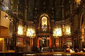 Interior of Santa Maria church on Montserrat mountain, Catalonia — Foto de Stock