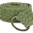 Green textile female belt isolated — Stock Photo #14771079