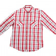 Male red chequered shirt isolated — Stock Photo