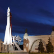 Stock Photo: An unidentified rocket on display at Pavilion of space and aircraft in Moscow, Russia