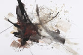 Nero e rosso pennello pittura astratta — Foto Stock