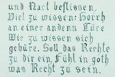 Hand drawn gothic calligraphical text — Stock Photo