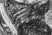 Black and white abstract brush painting — Stock Photo