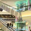 Mall with escalators and in motion — Stock Photo #21178065