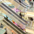 Mall with escalators and in motion — Stock Photo #21178083