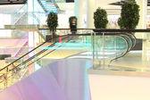 Escalator in modern mall — Stock Photo