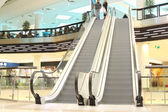 Escalator in modern mall — Stock Photo