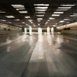 Stock Photo: Spacious desolate subway station illustration