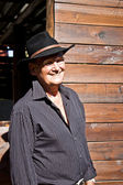 Senior cowboy male model — Stock Photo