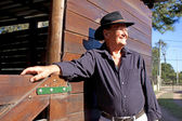 Modelo masculino de mayores vaquero — Foto de Stock