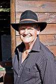 Senior männliches model lächelnd — Stockfoto