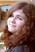 Cute Female Teen Model Close up — Stock Photo