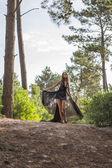 Attractive Model in Lovely Black Dress — Stock Photo