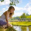 Beautiful girl outdoors - Stock Photo