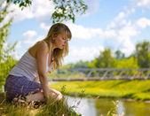 Beautiful girl outdoors — Stock Photo