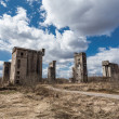 Abandoned  granaries — Stock Photo