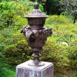 Sculpture of golden samovar in the park Arboretum city of Sochi — Stock Photo