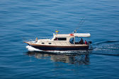 Go fishing from a boat — Stock Photo