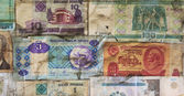 Background of old banknotes — Stock Photo