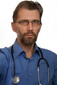 Portrait of doctor with stethoscope — Stock Photo