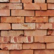 Bricks for next building on warehouse — Stock Photo