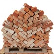 Bricks for next building on wooden pallet — Stock Photo