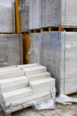White aerated concrete blocks — Stock Photo