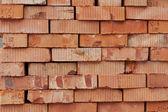 Bricks for next building on warehouse — Stock Photo