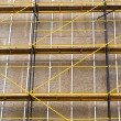 Concrete wall with scaffolding — Foto de Stock