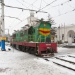 Foto Stock: Locomotive in Simferopol, Crimea, Ukraine