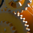 Close up view of gears — Stock Photo