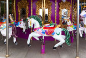 Carousel Horses on carnival — Stock Photo