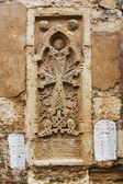 Cross relief on facade of Armenian Church — Stock Photo
