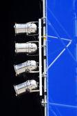 Silver spotlights mounted on shift gate — Stock Photo