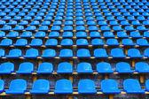 Amphitheater of dark blue seats — 图库照片