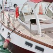 Stock Photo: Cruising yacht at marina