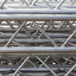 Photo: Stack of metal trusses