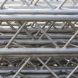 Stock Photo: Stack of metal trusses