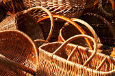 Fragments of empty wicker basket — Stock Photo