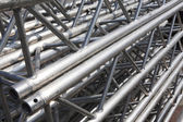 Stack of metal trusses — Stock Photo