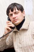 Man with phone — 图库照片